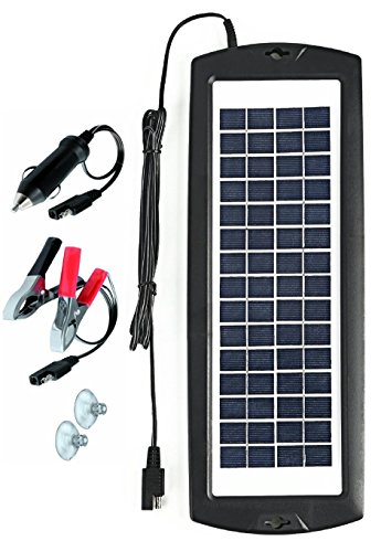 Sunway Solar Car Battery Charger 12V Battery Trickle Charger Maintainer Solar Panel Power Charger Portable Backup For RV Motorcycle Boat Marine Trailer Tractor Powersports Tractor ATVs Snowmobile (Car Rv Battery)