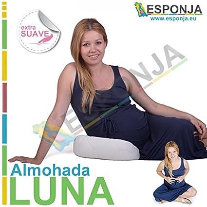 Almohada LUNA para Premamas - Almohadas para poner debajo del vientre tipo Esponja Anatomica Acolchada ideal