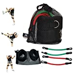 Wellsem Kinetic Speed Agility and Strength Leg Resistance Bands Jump trainer ( Taekwondo Fitness Exercise Tool Equipment )