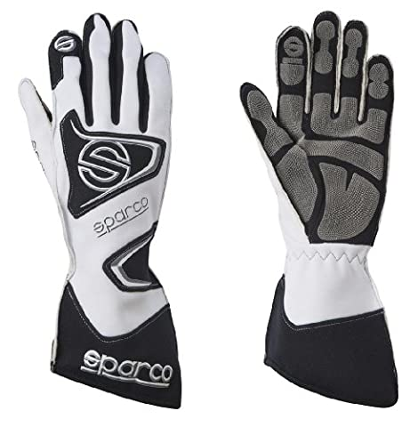 Sparco 0025610BI Tide K-9H White Size-10 Karting Gloves (Sparco Tide Racing Gloves)