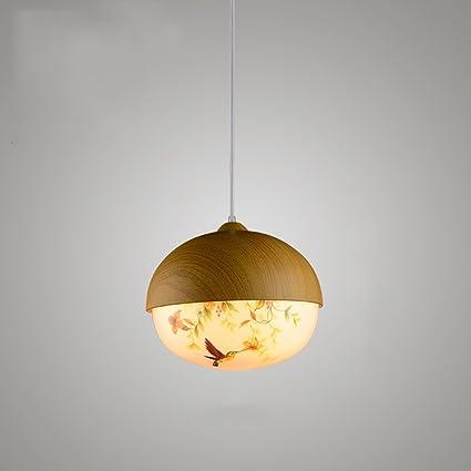 LZDHY Lámparas de araña Lámparas de madera clásicas Flor y ...