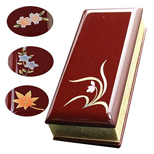 京仏壇はやし 過去帳 蒔絵ワイン( 蘭 ) 3寸 日付入り ◆縦 約9cm 横 約4.5cm 厚み 約2.5cm B00OOPDE6E蘭 3寸