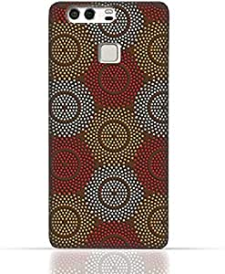 Huawei P9 TPU Silicone Case With Polka Dot Ethnic Pattern Design.