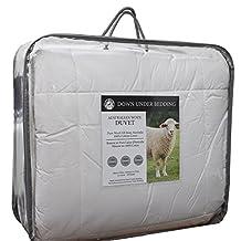 Down Under Australian Washable Wool Oversized Queen Duvet Comforter Blanket