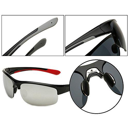 Plata UV400 gafas ciclo los protección de Negro 100 los Lente la para de que navegación Gafas Dintang cómodo la hombres sol de antideslumbrantes inastillable Marco de de navega deportes x6vp0Iqn