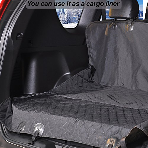 Dog Car Seat Covers Set - Pet Seat Covers Set - Dog Car Seat Covers WaterProof - Heavy Duty Dog Seat Cover WaterProof - Dog Car Seat Covers Heavy Duty - Vehicle Seat Covers for Dogs - HAMMOCK black by FG [FamilyGroup] (Image #5)
