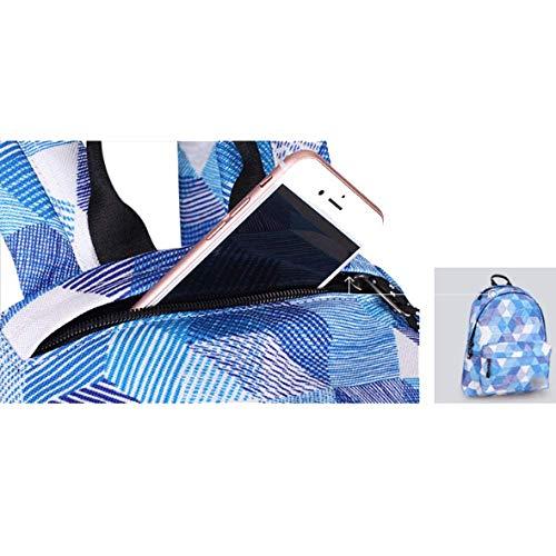Mode Sac Blue Lady Grande Simple Glamour Chic Dos Capacité Décontracté Yxpnu Atmosphérique À wOx5Idx7