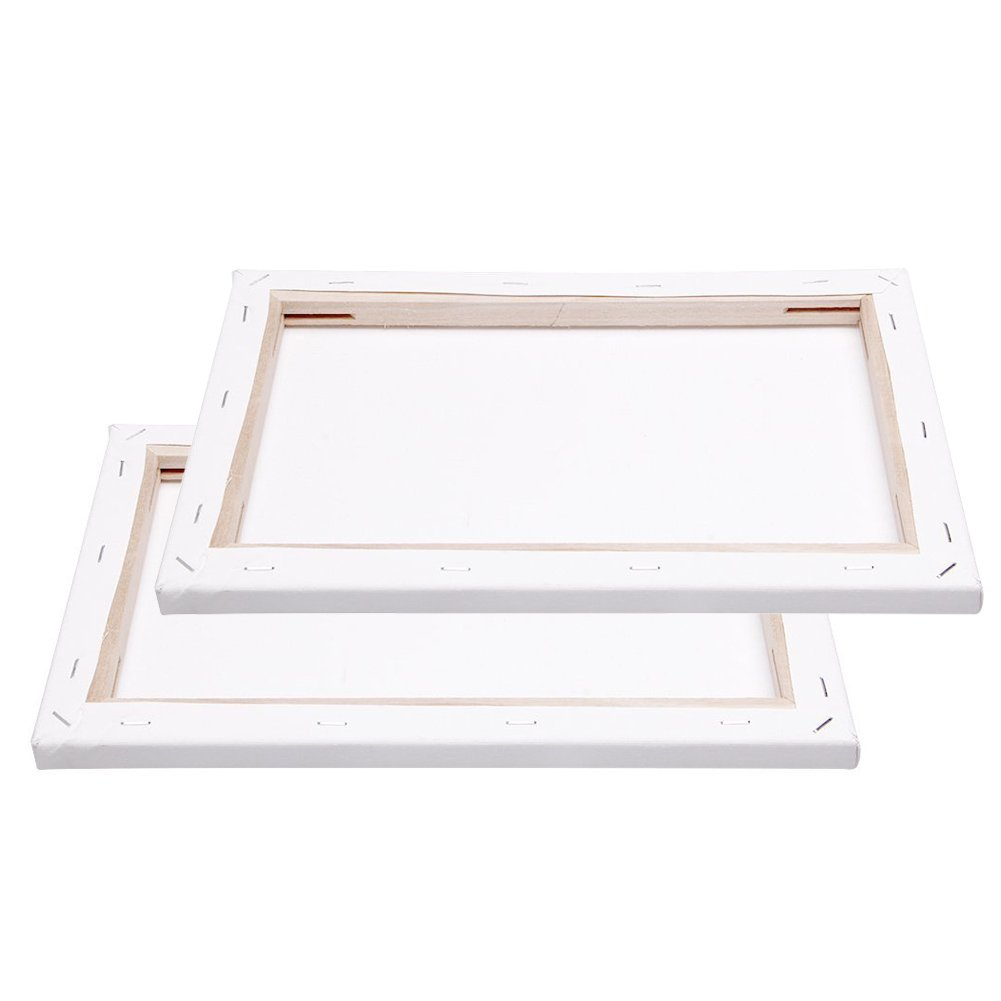 20x20cm Blank Canvas Board Wooden Framed For Painting DIY Paint By Numbers Kits Oil Painting 2 Pieces Pack