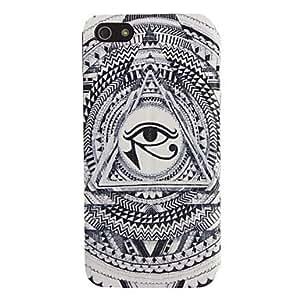 HC- Patrón Triángulo de ojos Caso de cuerpo completo con ventana para el iPhone 5/5S