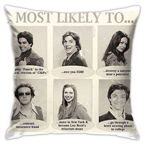 Mabel That 70S Show Most Likely to. Yearbook Quotes Square(45cmx45cm) Pillow Home Bed Room Interior Decoration