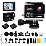 Campark® Sports Camera,4K 25fps,Full HD 1080P,WiFi,Helmet Waterproof Diving Camcorder Action Camera with 2pcs Batteries