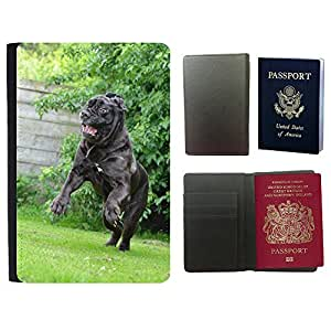 Hot Style PU Leather Travel Passport Wallet Case Cover // M00115984 Mastino Napoletano Funny Crazy // Universal passport leather cover