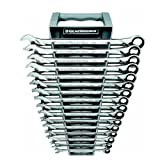 GearWrench 85099 16 Piece Metric XL Ratcheting Combination Wrench Set