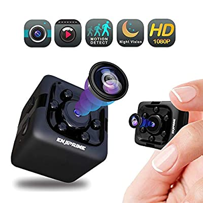 Spy Hidden Camera Nanny Cam - Mini Wireless Cop Cam Action Cameras for Indoor or Outdoor, Home Office or Car Video Recorder with 1080p HD Recording and Night Vision Monitoring Camera from Enji Prime
