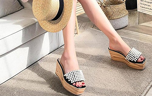 MEILI Sra. Beach Thick Slip antideslizante Sandalias 1