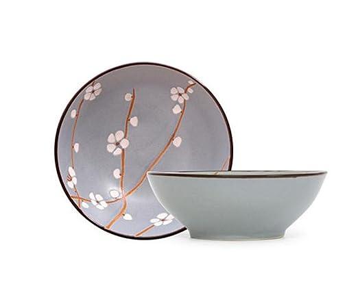 GLRWAN HJHY® Tazón de Fuente de Ramen japonés Tazón de cerámica de ...