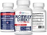 Cheap Norway Direkt Omega-3 Fish Oil 3,000mg Fish Oil Concentrate | 1060mg EPA, 740mg DHA (2 Soft-Gel Serving) Pharmaceutical Grade (180 Softgels)