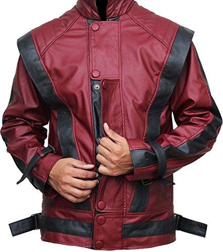 Michael Jackson Leather Jacket - Red Thriller Leather Jacket -