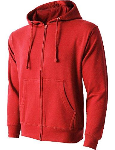 red hooded zip up sweatshirt - 6