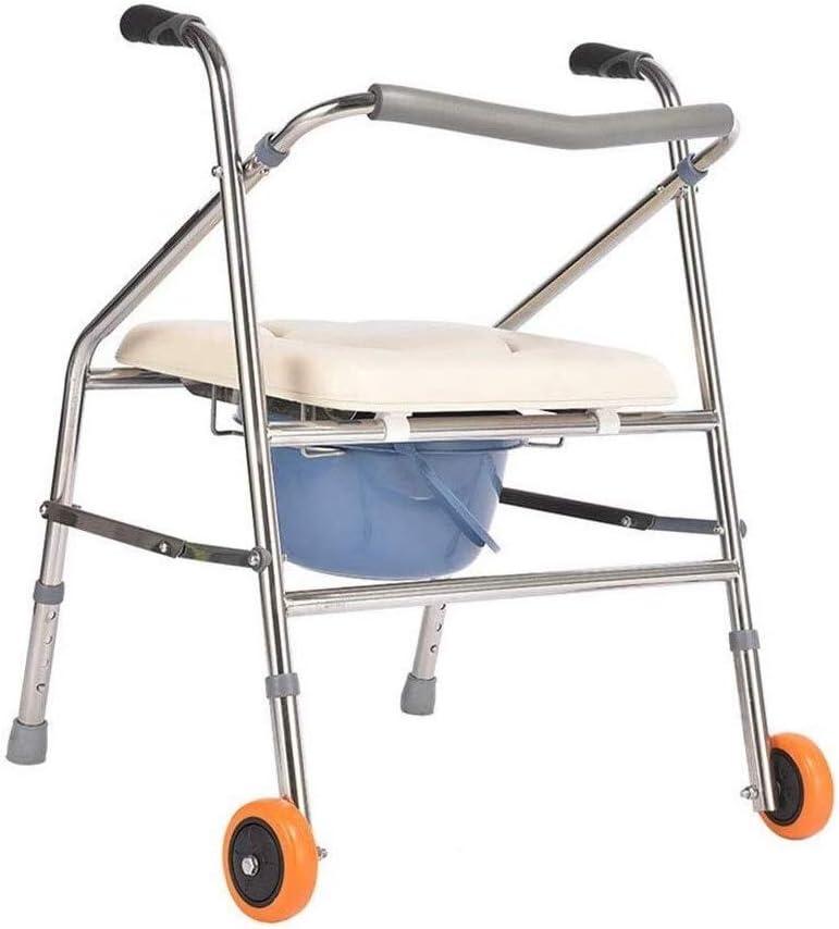 LDD ポータブルトイレ トイレ椅子 、便器椅子折りたたみフレーム、風呂椅子を歩く、隆起便座適した、高齢者妊婦障害者