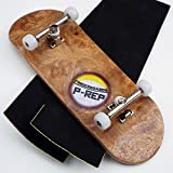 Peoples Republic P-Rep BURL 34mm Complete Wooden Fingerboard w CNC Lathed Bearing Wheels …
