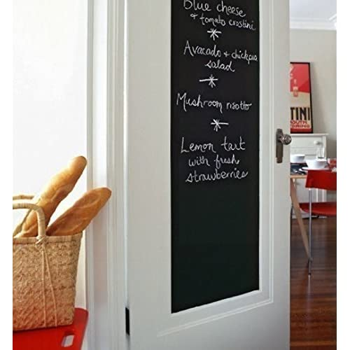 Blackboard Sticker Chalkboard Contact Paper Gift for Kids Self-Adhesive Wall Sticker for School/Stores Messages Using/Office/Home with 5 Chalks 17.7x78.7 inch supplier