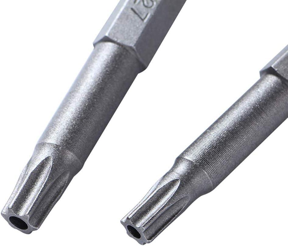 Ounona 8/pcs Torx Vis /à t/ête de bricolage magn/étique en acier de forets de tournevis Torx Embouts 50/mm