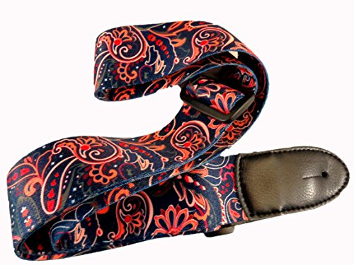 New Blue Paisley Retro Vintage Hippie Acoustic Electric Guit