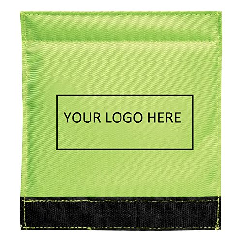 Luggage Spotter Handle Wrap Bag Tag with Inside ID Pocket to Insert Business Card - 100 Quantity Bulk - $1.95 Each includes logo - PROMOTIONAL PRODUCT BRANDED w/ YOUR LOGO / GREAT TRADE SHOW GIVEAWAY! by China (Image #3)