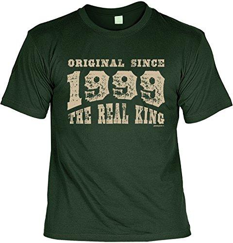 T-Shirt - Original Since 1999 - The Real King - lustiges Sprüche Shirt als Geschenk zum 18. Geburtstag