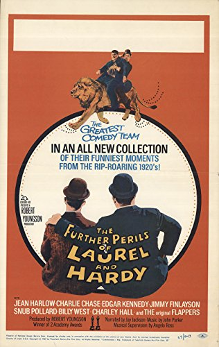 "The Further Perils of Laurel and Hardy 1967 Authentic 14"" x 22"" Original Movie Poster Fine, Very Good Charley Chase Documentary U.S. Window Card"