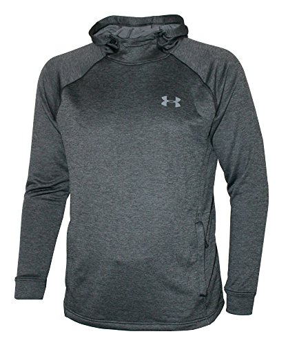 - Under Armour Men's Hooded Shirt ColdGear Fitted Hoodie (Grey, M)