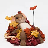 Enesco Halloween Charming Tails Pile of Leafs Figurine, 2.25-Inch
