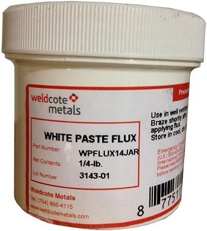 Weldcote White Paste Flux 1//4 Pound Jar