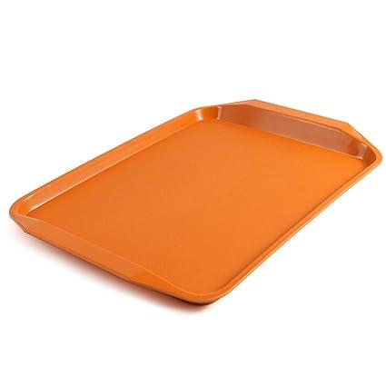 Zzaini Melamina Plástico Bandeja para Servir, Rectángulo Color Puro Moldes para Hornear Pan Bandeja Desayuno