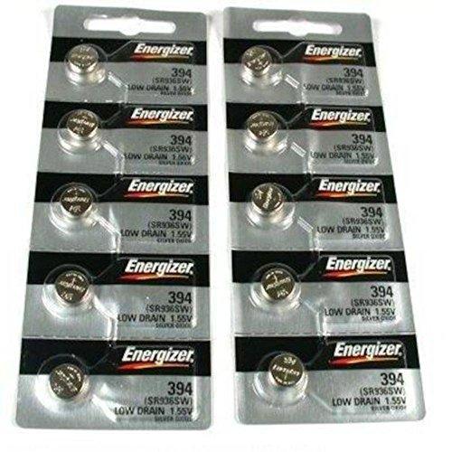 10 394 / 380 Energizer Watch Batteries SR936W SR936SW (394 Swatch Battery)
