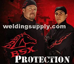 Black Stallion 27 Premium Grain Pigskin MIG Welding Gloves - Long Cuff - Large by Revco