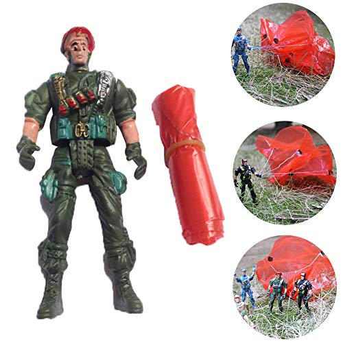 LBgrandspec Models Toys Army Movable Soldier Parachute Airborne Game Action Figures Collection Kids Toy Developmental Toy Repair Tool ()