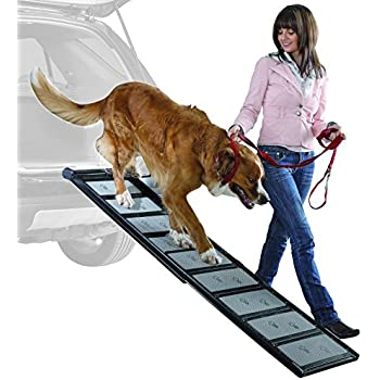 Lightweight Walk Up with Collapsible Aluminum Dog Ramp, 6-Feet