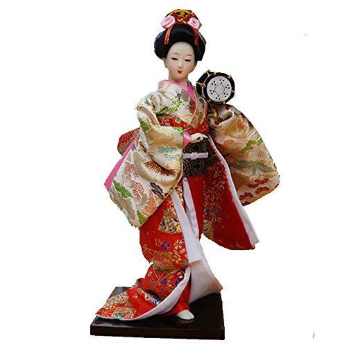 Used, 12'' tall Japanese Geisha Kimono Girl Doll Kabuki Geigi for sale  Delivered anywhere in USA