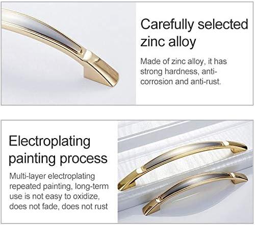 O3 Door Handle Cabinet Door Handle 5 PCS 4091-128 Double Gold Zinc Alloy Cabinet Drawer Door Handle Furniture Handles Cupboard Knobs