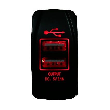 Hot Sistema 5 V Max 3.1 A/3100mA Auto coche cargador LED iluminado ...