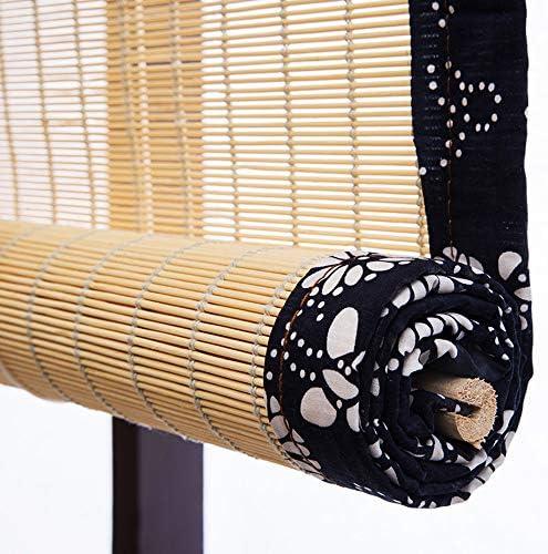 木の色竹ロールアップカーテン、窓ブラインドサンシェード、竹ローマ木製ロールアップブラインド、天然竹カーテン、窓/ドア用屋内屋外用ロールアップ、茶室仕切り日よけ竹カーテン