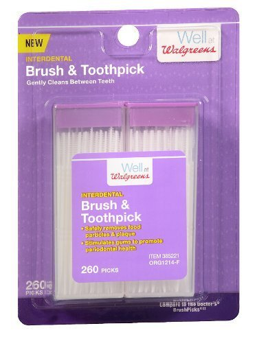 3 Pack of Walgreens Interdental Brush & Toothpick 260.0 ea