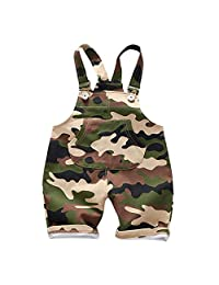 Evelin LEE Baby Boys Cute Camo Bib Pants Sleeveless Romper Jumpsuits Overalls