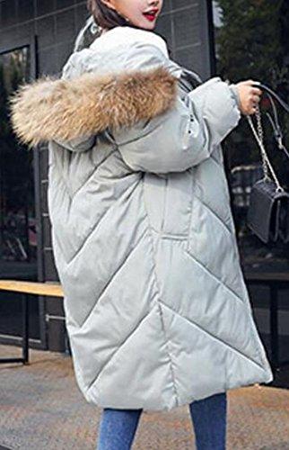 Women's Thicken Winter Parka amp;W Puffer Collar M Coats Down amp;S Fur Gery qwptBC