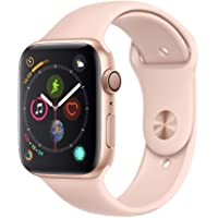 Apple Watch Series 4 (GPS) 44mm Gold Aluminum Case with Pink Sand Sport Band (Gold Aluminum)