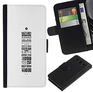 Paccase / Billetera de Cuero Caso del tirón Titular de la tarjeta Carcasa Funda para - motivational poster calligraphy inspiring - Samsung Galaxy S3 III I9300