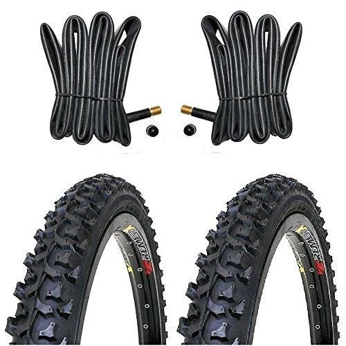 2 x Kenda MTB Reifen Fahrradreifen 24 Zoll 50-507 24 x 1.95 inklusive 2 x Schlauch mit Autoventil