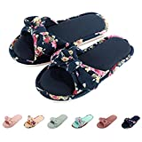 Women Open Toe Slip on Home Slippers Comfort Memory Foam Slippers Indoor Outdoor House Slippers Shoes
